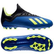 adidas x 18.3 ag energy mode - blå/gul børn - fodboldstøvler