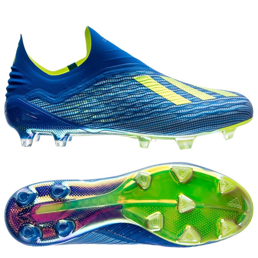 adidas x 18+ fgag energy mode - blueyellow - football boots