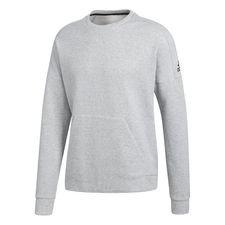 adidas sweatshirt crewneck stadium - grå/sort - sweatshirts