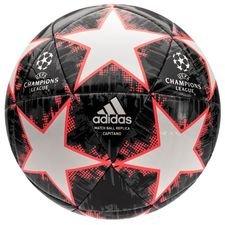 adidas fodbold champions league 2018 finale capitano - hvid/sort/grå - fodbolde