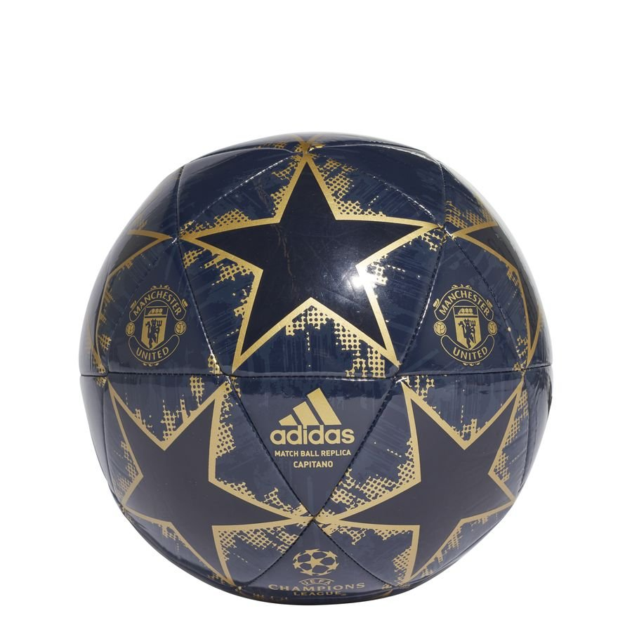 Manchester United Fodbold Champions League 2018 Finale Capitano - Navy/Guld