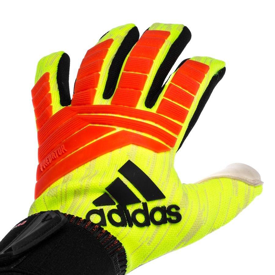 Adidas ACE Zones Pro Soccer Goalkeeper Gloves (Solar YellowBlack)