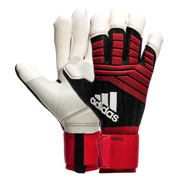 adidas Goalkeeper Gloves Predator Hybrid Team Mode BlackRedWhite