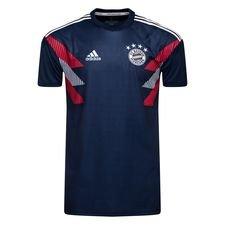 Bayern München Tränings T-Shirt Pre Match - Navy/Vit