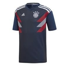 Image of   Bayern München Trænings T-Shirt Pre Match - Navy/Hvid Børn