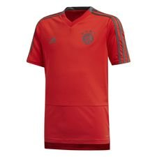 bayern münchen training t-shirt red/grey - kids - training tops