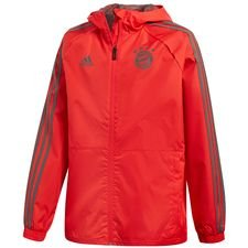 bayern münchen regnjakke - rød/grøn børn - jakker