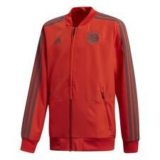 bayern münchen jacket presentation - red/black kids - training jackets