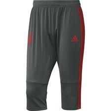 bayern münchen training trousers 3/4 - black/red - training pants