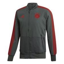 bayern münchen jakke presentation - sort/rød - træningsjakke