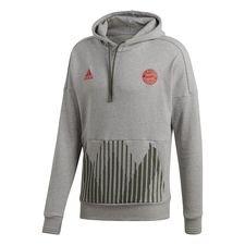 bayern münchen hættetrøje seasonal special hd - grå - hættetrøjer