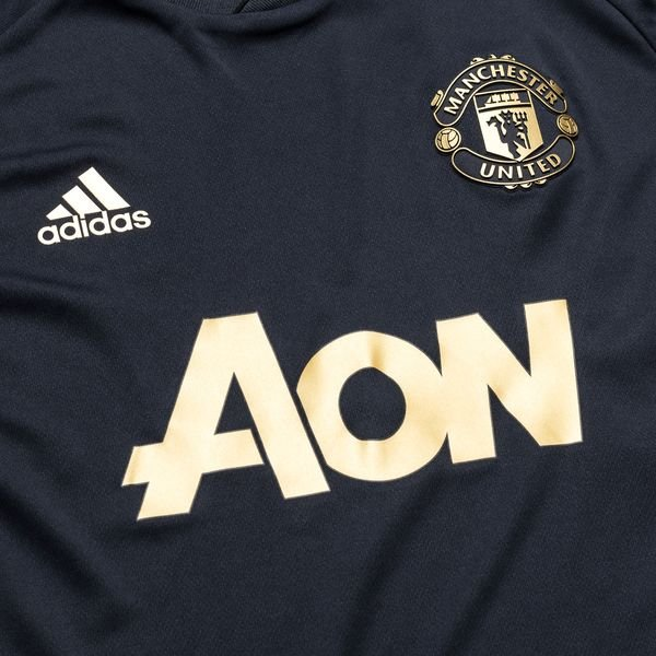online store 01aa0 bbdd5 Manchester United Training T-Shirt UCL - Night Navy/Gold Kids
