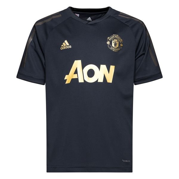online store accbe 7e9b8 Manchester United Training T-Shirt UCL - Night Navy/Gold Kids