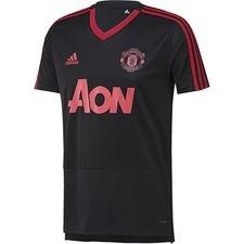 manchester united trænings t-shirt - sort/rød - træningstrøjer