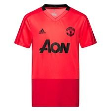 manchester united trænings t-shirt - rød/sort børn - træningstrøjer