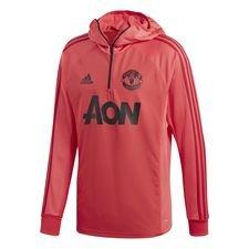 manchester united træningstrøje warm - pink/sort - træningstrøjer