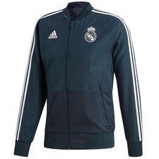 real madrid jakke presentation - blå/hvid - jakker