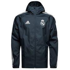 real madrid regnjakke - blå/hvid - jakker