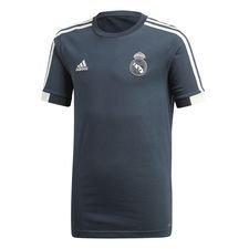 real madrid trænings t-shirt - blå/hvid børn - træningstrøjer