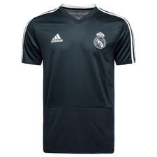 Real Madrid Trainingsshirt Zwart/Wit - Kinderen