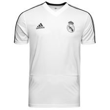 Real Madrid Tränings T-Shirt Vit/Svart - Barn