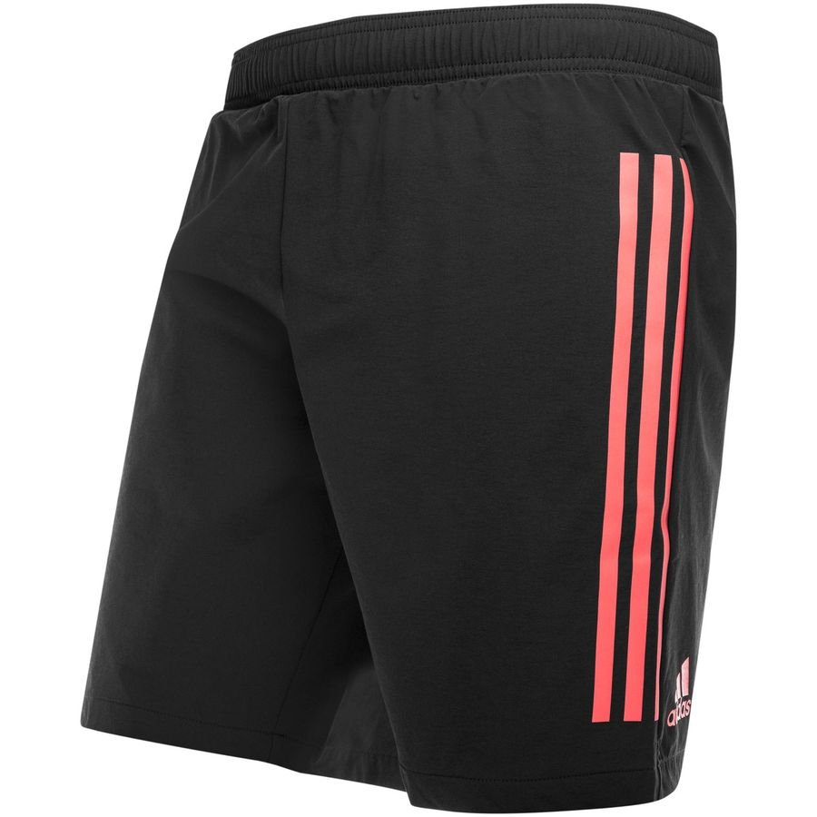 real madrid training shorts ucl - black real coral - training shorts ... a23ce81e8