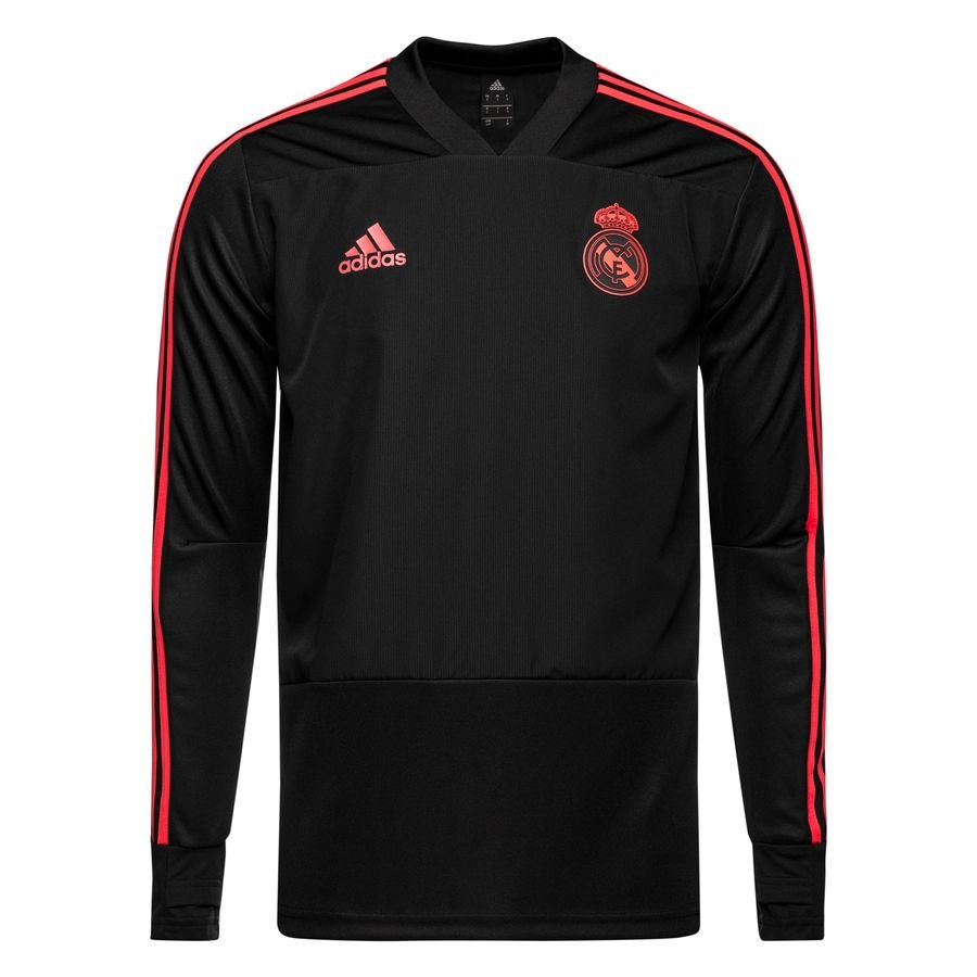 real madrid training shirt ucl - black real coral - training tops ... 265b08315