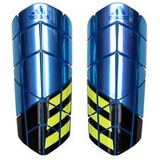 adidas shin pads pro x energy mode - blue/black/solar yellow - shin pads