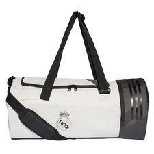 real madrid sportstaske duffel - hvid/sort - tasker