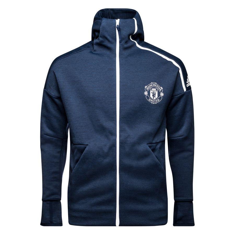 Manchester United Sweat à Capuche Z.N.E. - Bleu Marine/Blanc