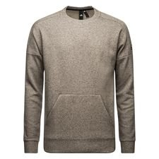 adidas Sweatshirt Crewneck Stadium - Heather Grey/Schwarz