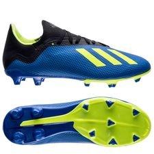 adidas x 18.3 fg/ag energy mode - blå/gul - fodboldstøvler