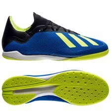 adidas x tango 18.3 in energy mode - blå/gul - indendørssko