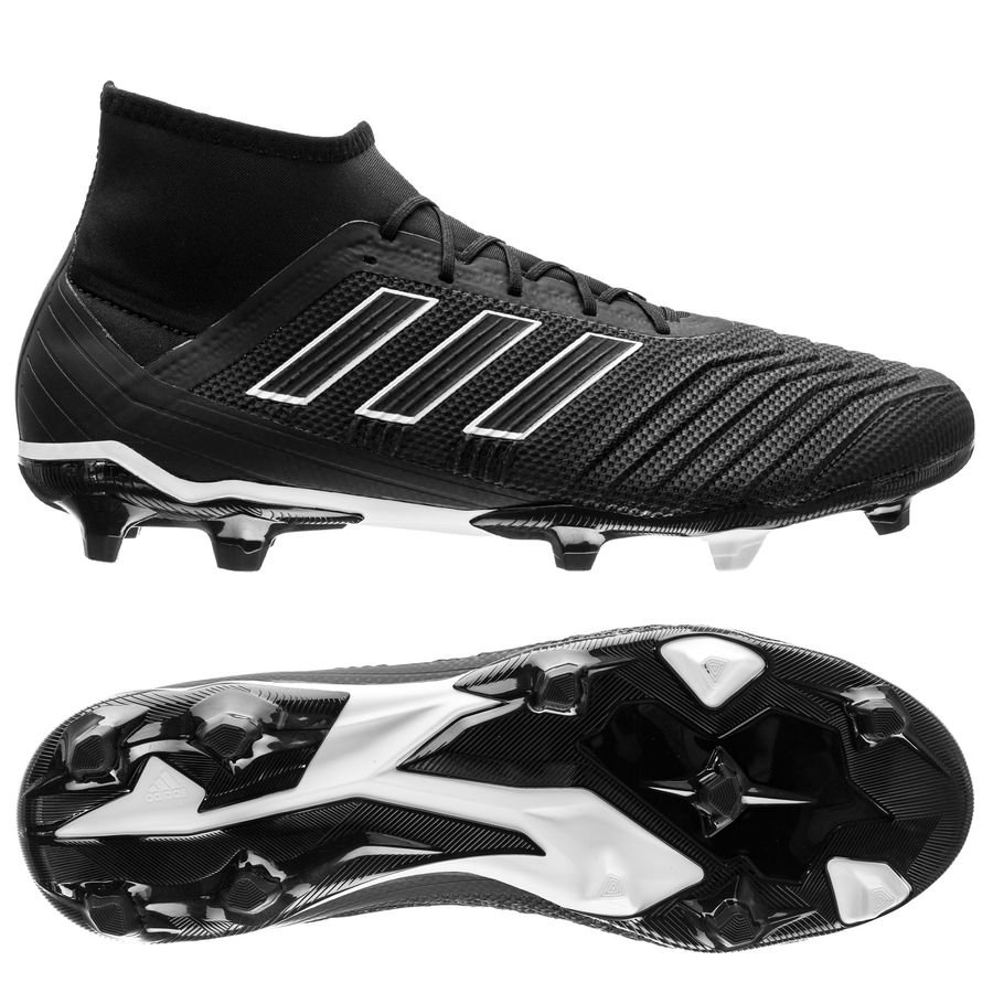 adc5e820dd371c adidas predator 18.2 fg ag shadow mode - core black footwear white -  football ...