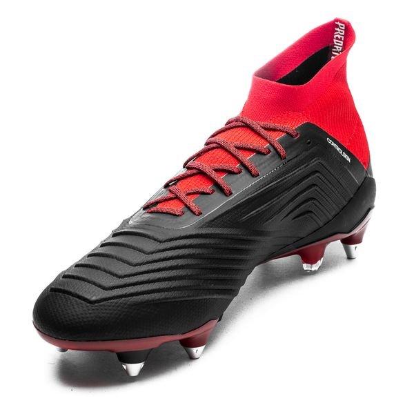 online retailer 72b88 75e0f adidas Predator 18.1 SG Team Mode - Noir Blanc Rouge 4