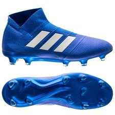 adidas Nemeziz 18+ FG/AG Team Mode - Blauw/Wit