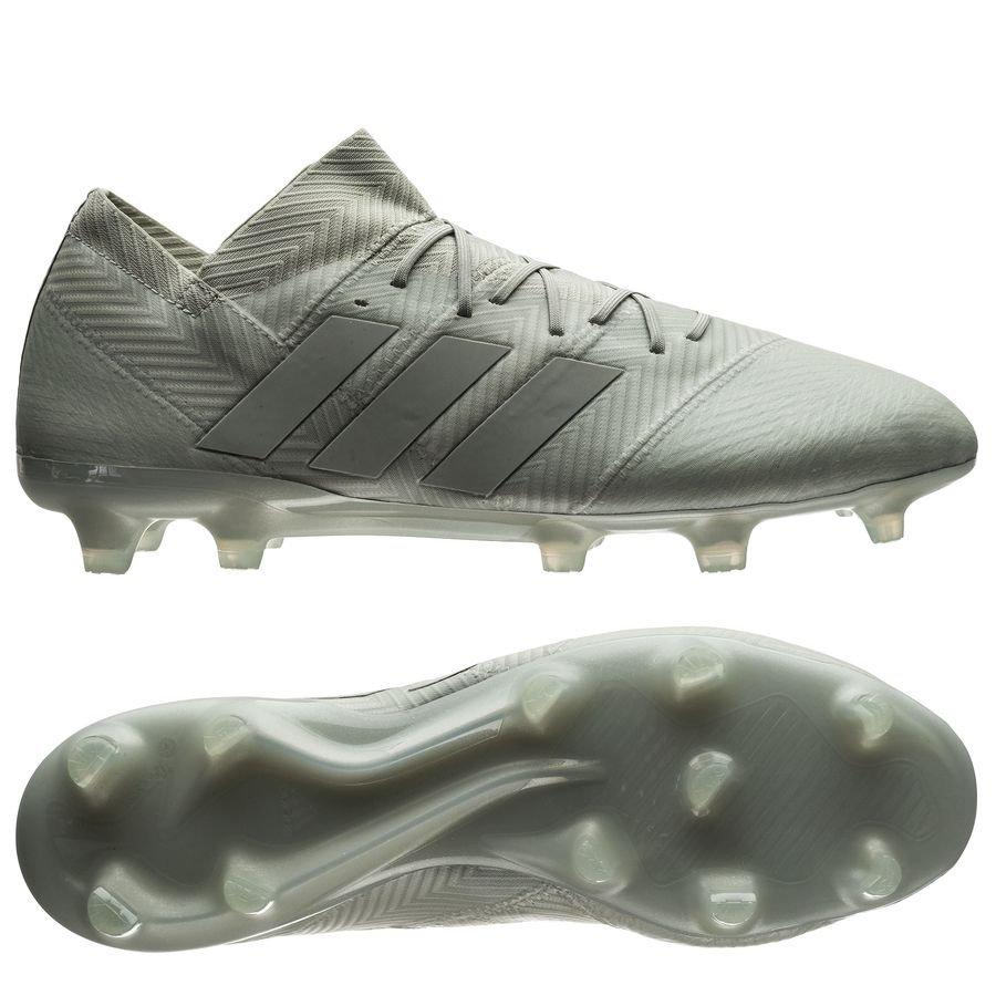 adidas Nemeziz 18.1 FG/AG - Sølv/Hvid