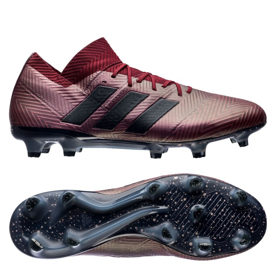 d0284ac420e7 adidas nemeziz 18.1 fg ag cold mode - burgundy legend ink - football boots  ...