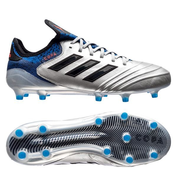 adidas Copa 18.1 FG/AG Team Mode - Silver Metallic/Core Black/Blue