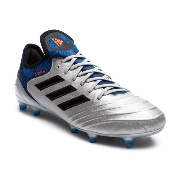 adidas Copa 18.1 FG/AG Team Mode - Silver Metallic/Core Black/Blue