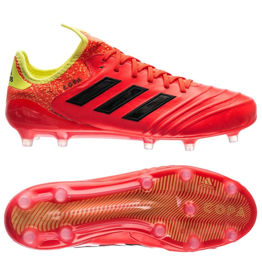 more photos a6f14 98dbb adidas copa 18.1 fgag energy mode - rödgul - fotbollsskor ...
