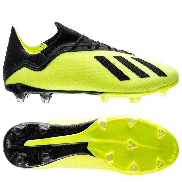 adidas X 18.2 FG/AG - Gul/Sort/Hvid