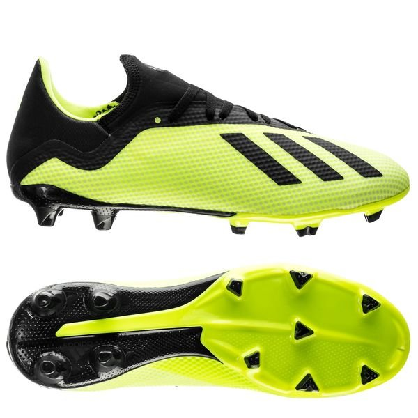 adidas X 18.3 FG/AG - Gul/Sort/Hvid