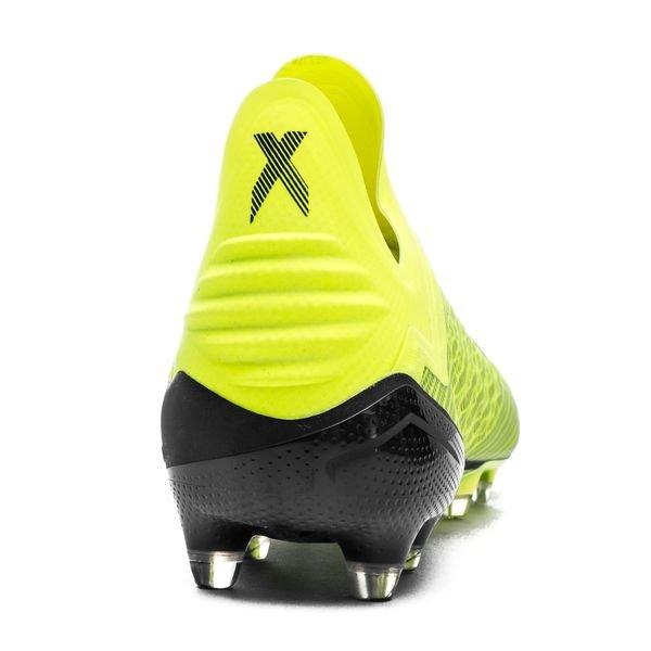 best sneakers 46052 f7335 adidas X 18+ FG AG Team Mode - Gul Sort Hvit 2