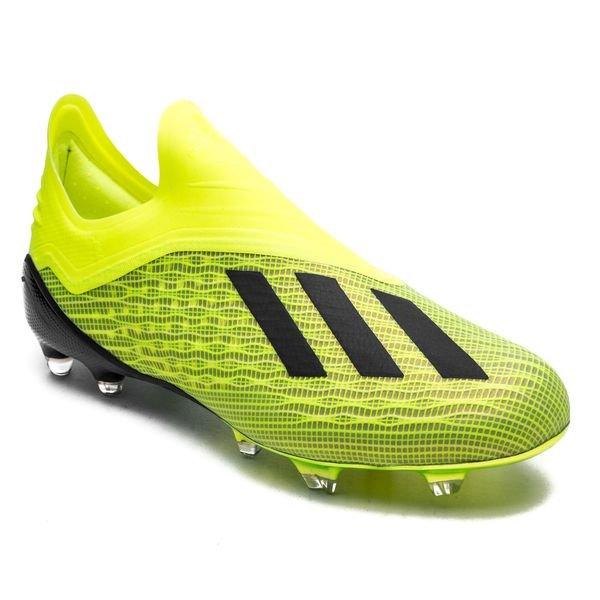 new style a1ebf c961a adidas X 18+ FG AG Team Mode - Gul Sort Hvit 3