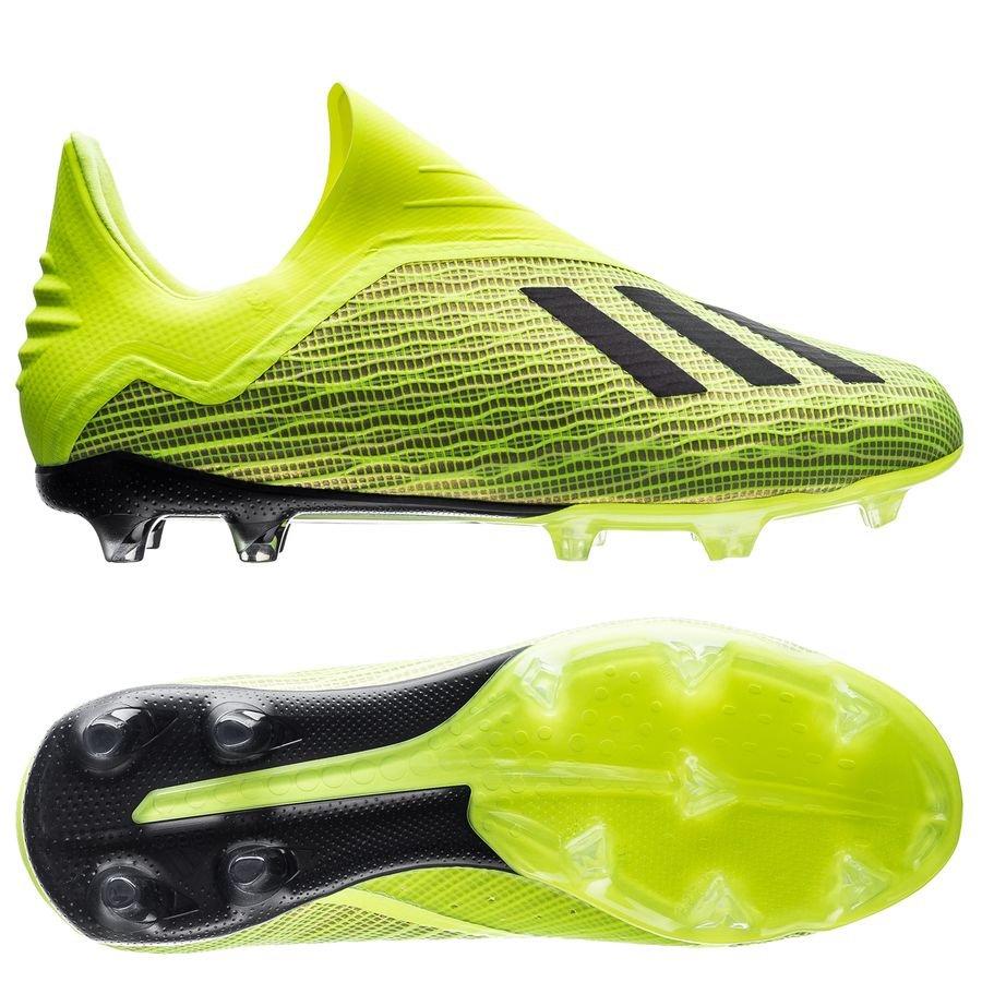 Adidas Fussballschuhe X 18.3 FG J Kinder neongelbschwarz