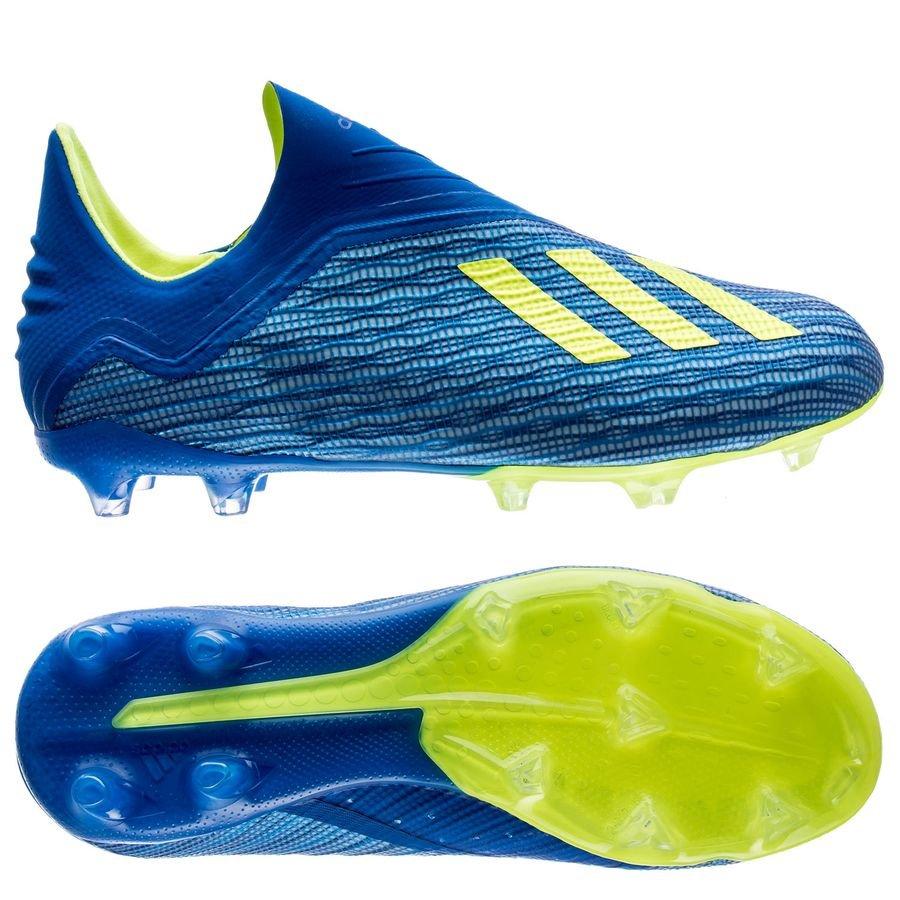 adidas x 18 fg/ag energy mode - bleu/jaune enfant - chaussures