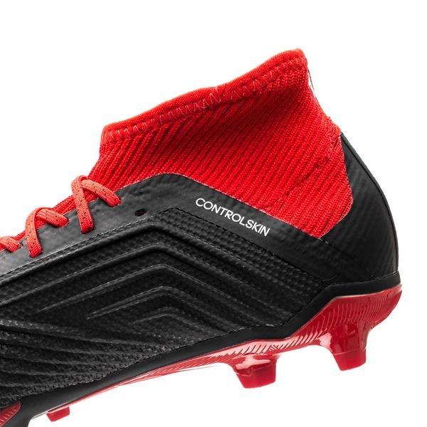 on sale 05d75 0700d ... adidas predator 18.1 fg ag team mode noir blanc rouge enfant