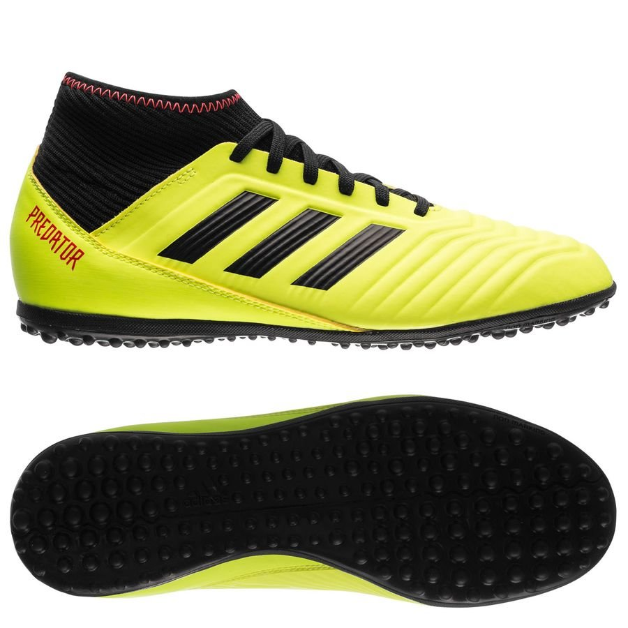 newest collection a173b 80794 adidas predator tango 18.3 tf energy mode - gul svart barn - fotbollsskor  image shadow
