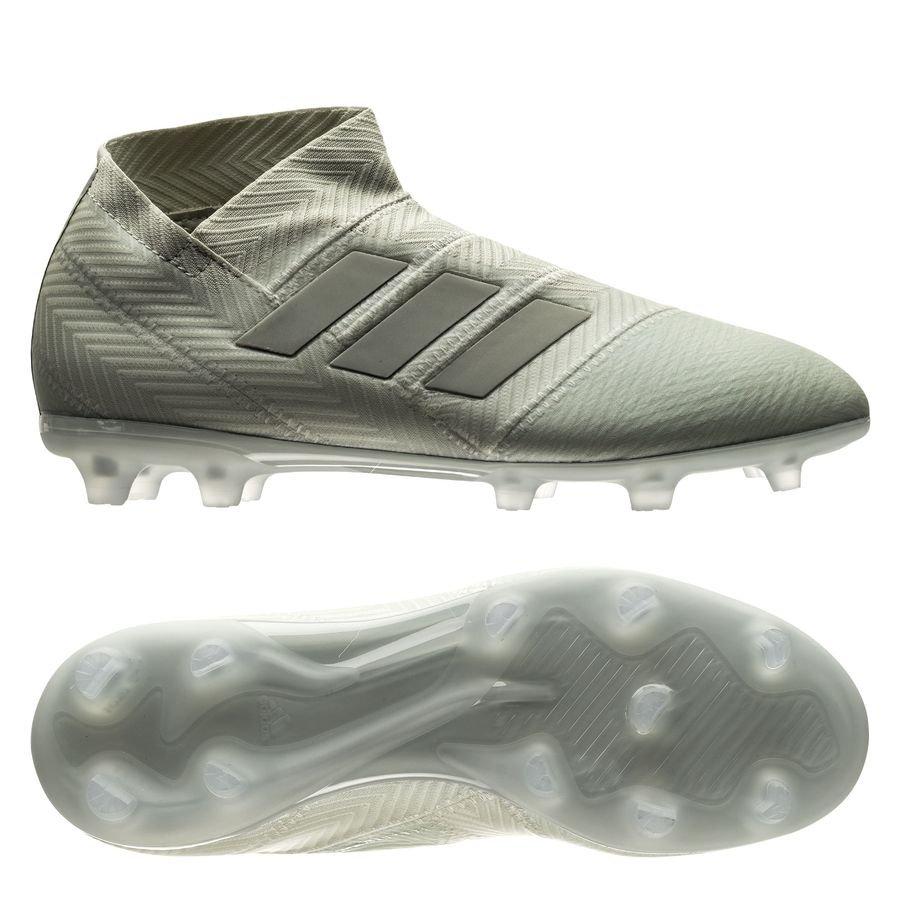 adidas Nemeziz 18+ FG/AG Spectral Mode - Sølv/Hvid Børn thumbnail
